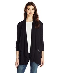 Kensie Drapey French Terry Open Cardigan Sweater