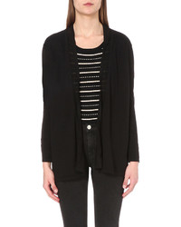 Sandro Knitted Cotton Blend Cardigan