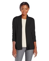 Leo & Nicole Missy Open Cardigan Sweater With Shawl Collar And Pockets