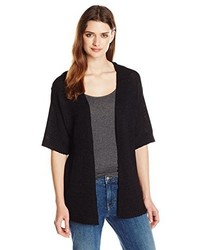 NY Collection Elbow Sleeve Open Front Cardigan