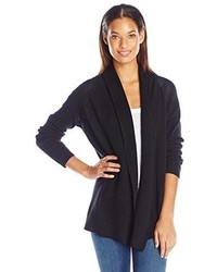 NYDJ Draped Front Mesh Cardigan Sweater