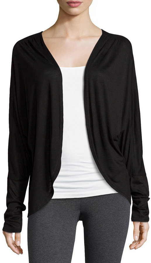 Electric Yoga Open Front Cocoon Cardigan Black | Where to buy ...