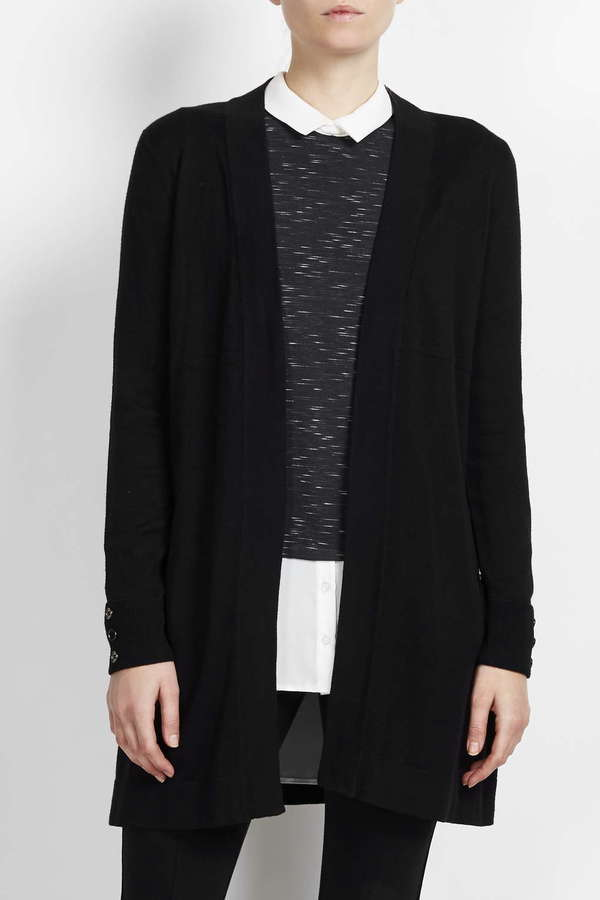 Petite Black Longline Cardigan | Where to buy & how to wear