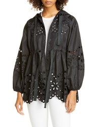 RED Valentino Nylon Eyelet Jacket