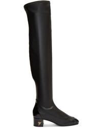 Giuseppe Zanotti Black Quad Over The Knee Boots