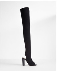 Express Over The Knee Stretch Peep Toe Boots