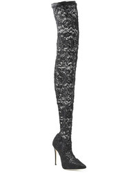 Dolce & Gabbana Thigh High Lace Boots