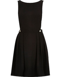 River Island Black Pinafore Dress