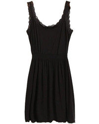 ChicNova Black Tank Dress With Lace Details