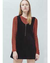 Mango Outlet Corduroy Pinafore Dress