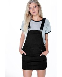 Boohoo Hollie Denim Dungaree Pinafore Dress