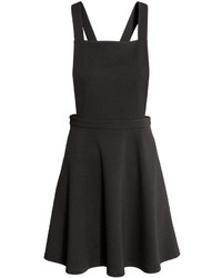 H&M Jersey Bib Overall Dress Black Ladies
