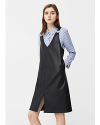 Mango Metallic Appliqus Pinafore Dress