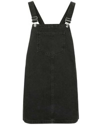 Petite Moto Square Neck Pinafore Dress