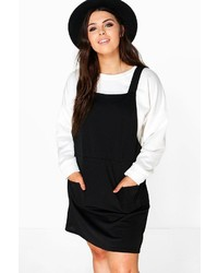 Boohoo Plus Mia Pinafore Dress