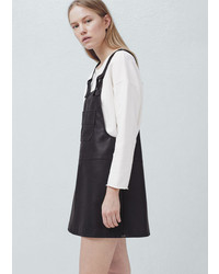 Mango Outlet Pockets Pinafore Dress