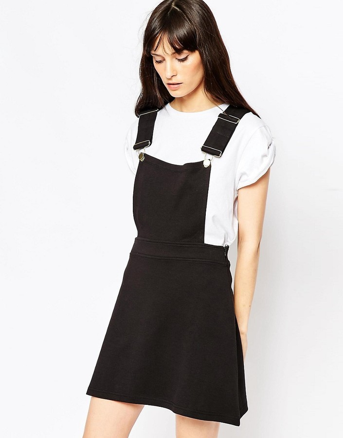 08ffe1cce5 ... Asos Ponte Mini Skirt With Pinafore Bodice ...