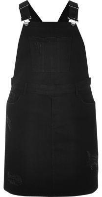 River Island Ri Plus Black Overall Dress