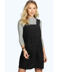 Boohoo Sara Cord Pinafore Zip Dress