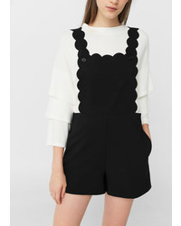 Mango Scalloped Flowy Pinafore Dress