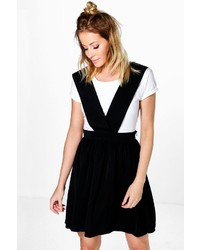 Boohoo Sierra Cross Strap Pinafore Dress