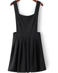 Straps Pleated Pinafore Dress