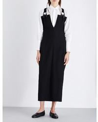 Yohji Yamamoto V Neck Wool Overall Dress