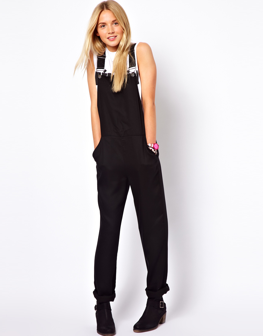 eea92dc7525c ... Black Overalls Asos Overalls In Relaxed Fit