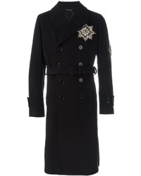 Alexander McQueen Military Badge Double Breasted Coat