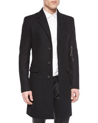 Helmut Lang Basic Wool Overcoat Black