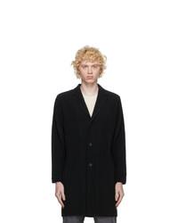 Homme Plissé Issey Miyake Black Basic Long Coat