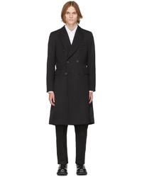 Alexander McQueen Black Double Breasted Coat