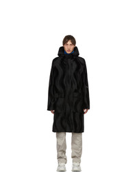 Serapis Black Faux  Coat