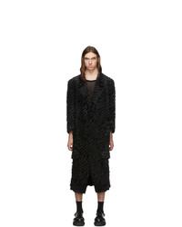 Comme Des Garcons Homme Plus Black Gold Stitching Coat
