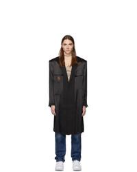 Vetements Black Inside Out Coat