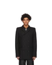 Marine Serre Black Long Tailor Coat