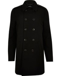 River Island Black Only Sons Trench Coat