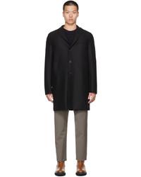 Harris Wharf London Black Wool Boxy Coat