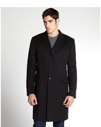 Gucci Black Wool Button Front Coat