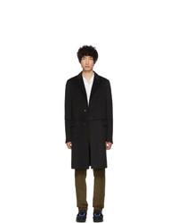 Prada Black Wool Straight Coat