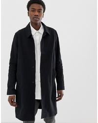 Weekday Carver Spring Coat In Black