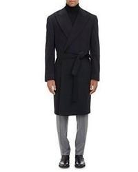 Cifonelli Cashmere Marcello Wrap Overcoat Black