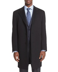 Canali Classic Fit Wool Cashmere Topcoat