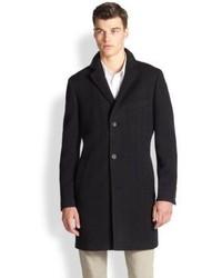 Saks Fifth Avenue Collection Herringbone Wool Topcoat