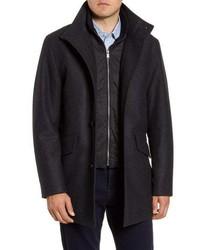 BOSS Coxtan Wool Blend Coat With Insert