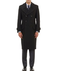 Crombie Double Breasted Coat Black