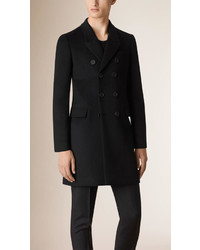 Burberry Double Breasted Unlined Cashmere Wool Coat