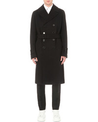 Alexander McQueen Double Breasted Wool And Cashmere Overcoat
