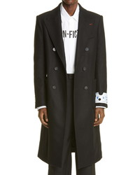 Off-White Double Breasted Wool Blend Coat