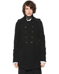 Ann Demeulemeester Double Breasted Wool Boucle Coat